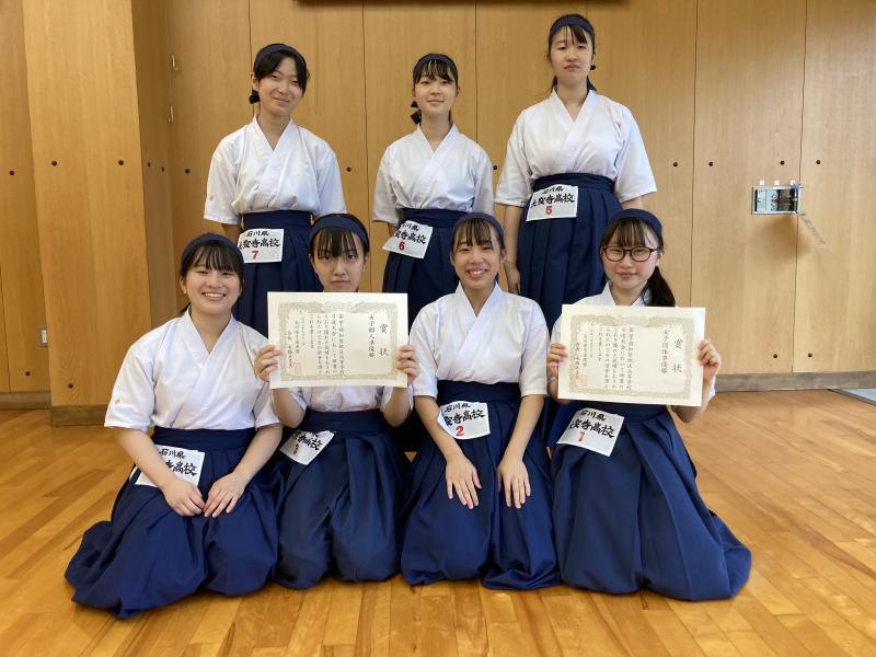 令和2年度加賀地区高等学校弓道大会女子2位