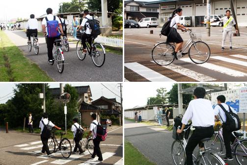 自転車乗車マナー指導