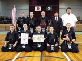H29剣道部県総体団体優勝写真