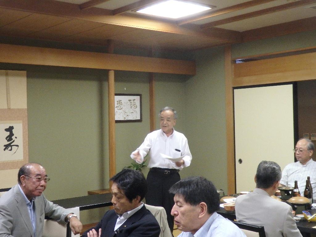 上田副会長からの話