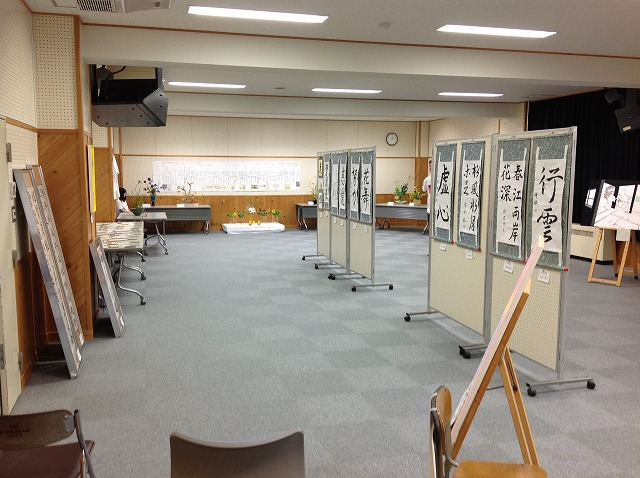 書道部の展示